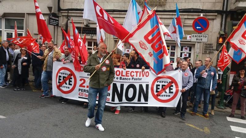 Movilizaciones en Galicia contra el ERE del Grupo Popular y Pastor