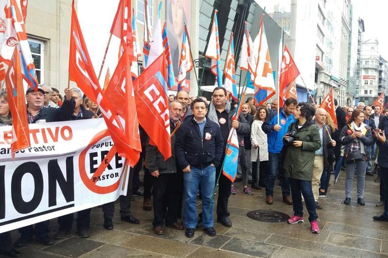 A Coruña se moviliza contra el ERE del Grupo Popular y Pastor