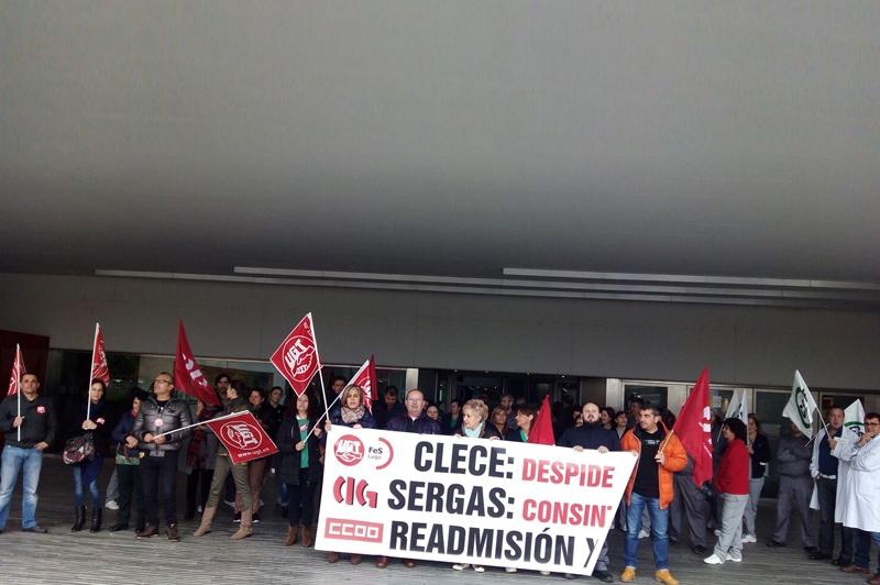 Siguen las concentraciones contra Clece en Lugo