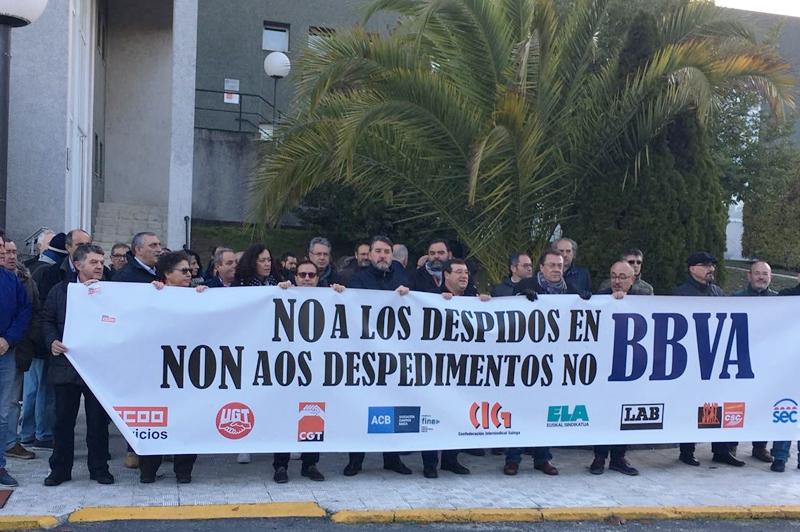UGT no aceptará la sustitución de prejubilaciones por despidos en BBVA