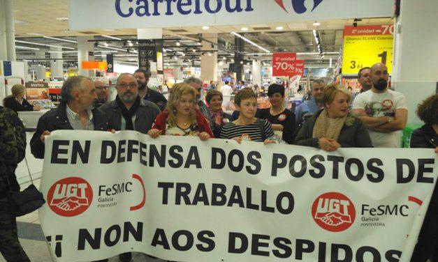 Huelga indefinida de la contrata de limpieza de Carrefour en Vigo