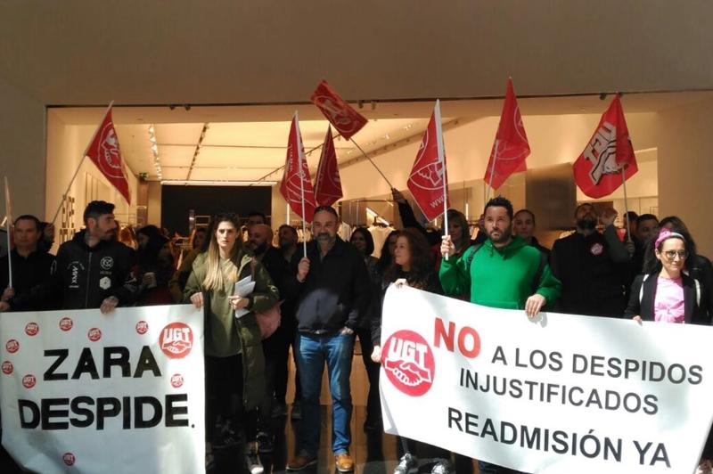 UGT denuncia el fraude en la contratación y los despidos en las tiendas de Zara de A Coruña