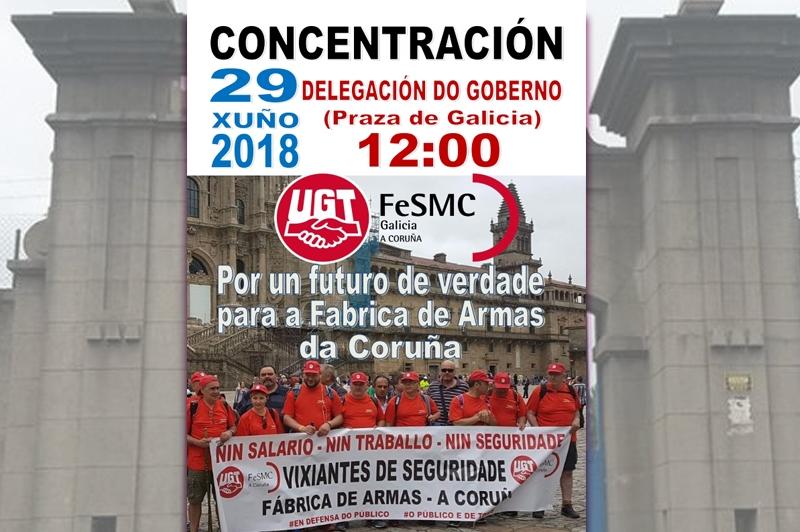 Fábrica de Armas, la lucha continúa, mañana, Concentración en la Delegación del Gobierno