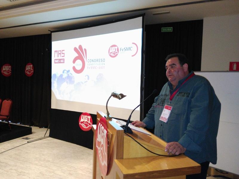 Eladio Romero, lidera la Comisión Ejecutiva de la nueva FeSMC-UGT de Galicia con el apoyo del 62% del Congreso