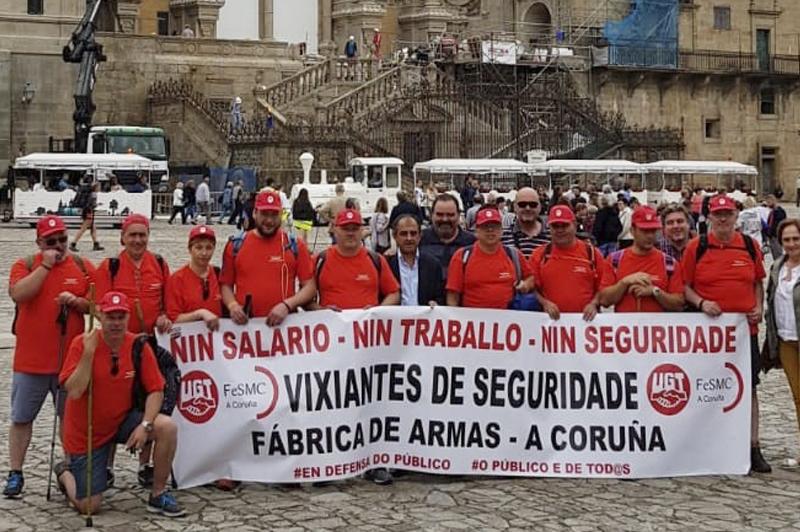 Los trabajadores de la Fábrica de Armas llegan con su lucha a Santiago de Compostela