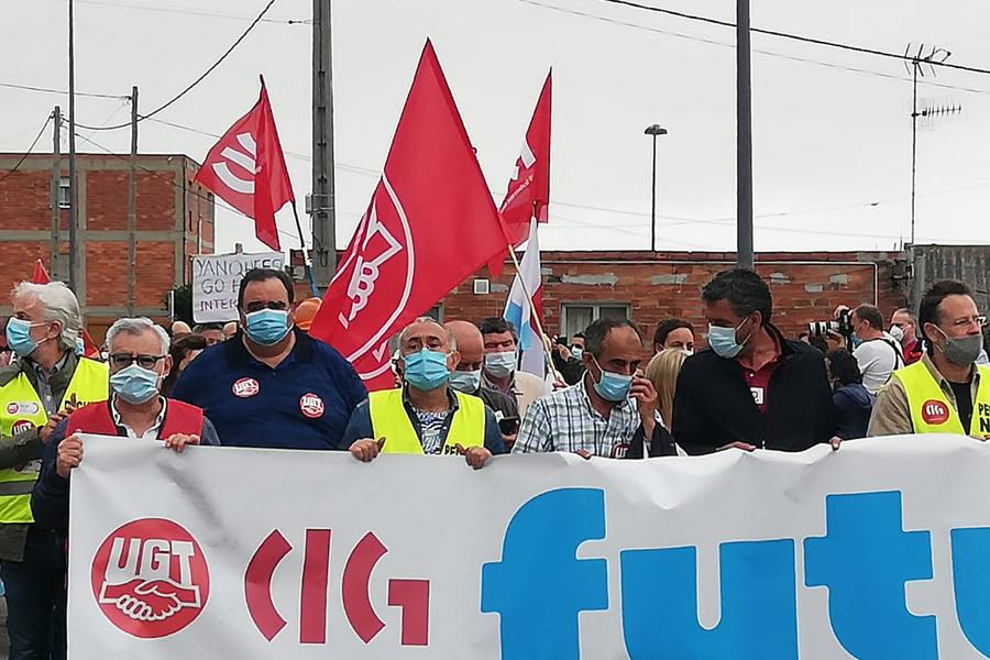 Caso Alcoa, manifestación en A Mariña Lucense