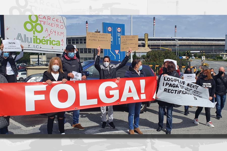 Seguimiento total en la huelga de Alu Ibérica